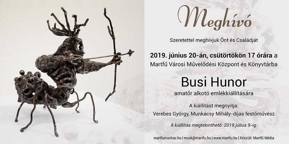 Busi Hunor emlékkiállítása @ Martfű Városi Művelődési Központ | Martfű | Magyarország
