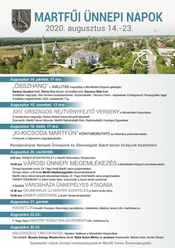 Martfűi Ünnepi Napok eseménysorozat @ Martfű, több helyszín | Martfű | Magyarország