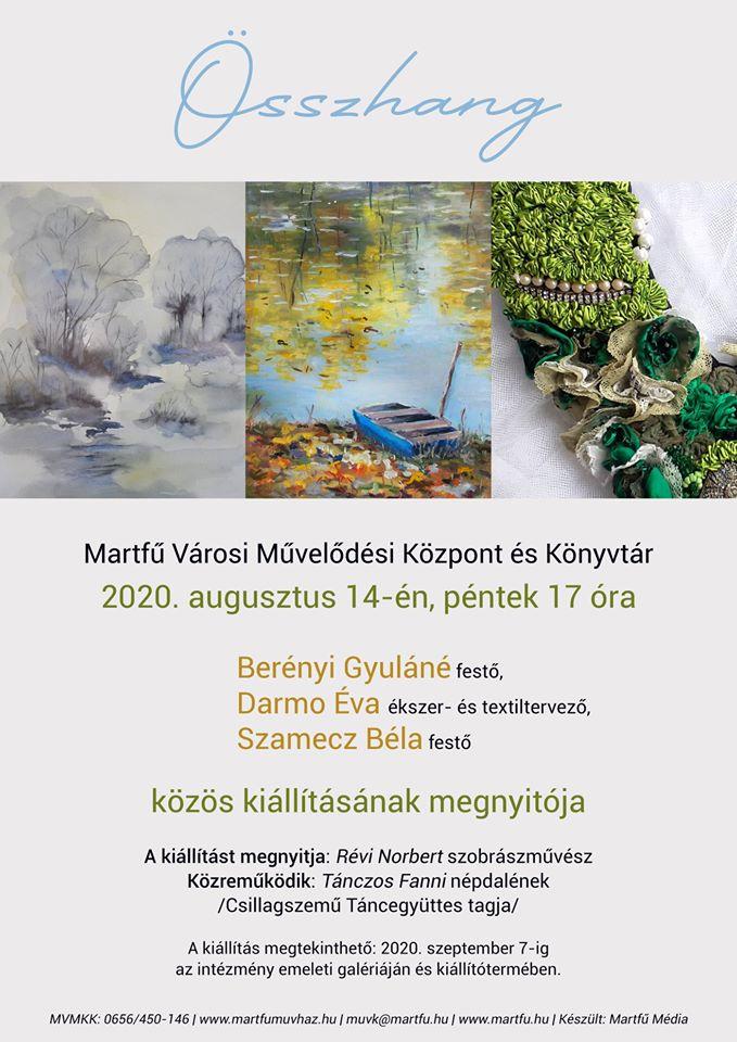 Összhang kiállítás megnyitó @ Martfű Városi Művelődési Központ és Könyvtár | Martfű | Magyarország
