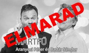 IDŐPONTVÁLTOZÁS - Aranyosi Péter és Badár Sándor közös estje Martfűn! @ Martfű Városi Művelődési Központ és Könyvtár | Martfű | Magyarország