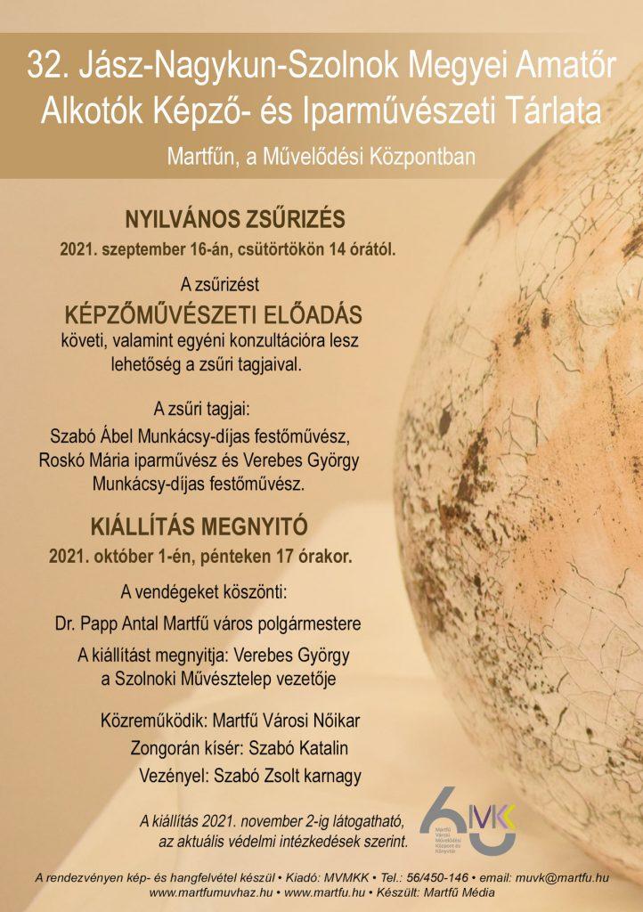 Kiállítás megnyitó - 32. Jász-Nagykun-Szolnok Megyei Képző- és Iparművészeti Tárlat @ Martfűi Városi Művelődési Központ   Martfű   Magyarország