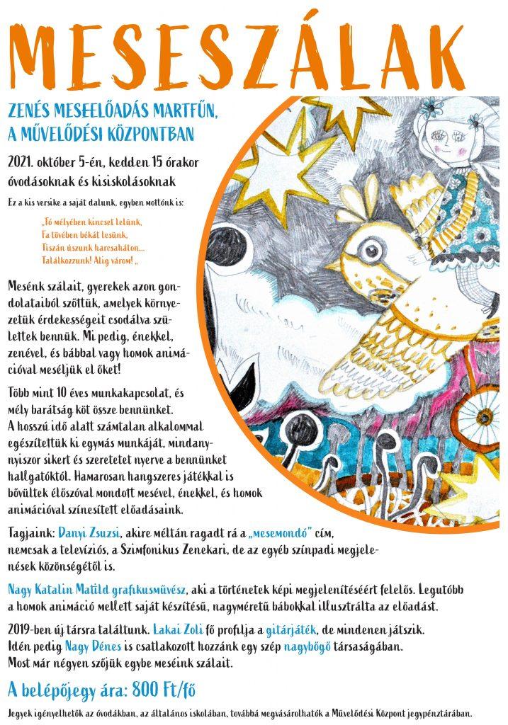 Meseszálak - zenés meseelőadás @ Martfű Városi Művelődési Központ   Martfű   Magyarország